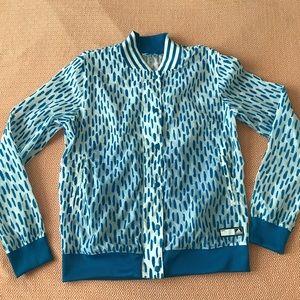 ADIDAS Velvet Dot snap front bomber jacket